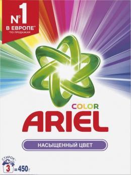 Ariel Стиральный порошок Насыщенный цвет 450г